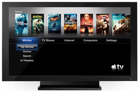 Apple TV menu