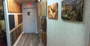 hall of hardwood floor samples