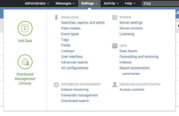 Splunk Octoblu Search Settings
