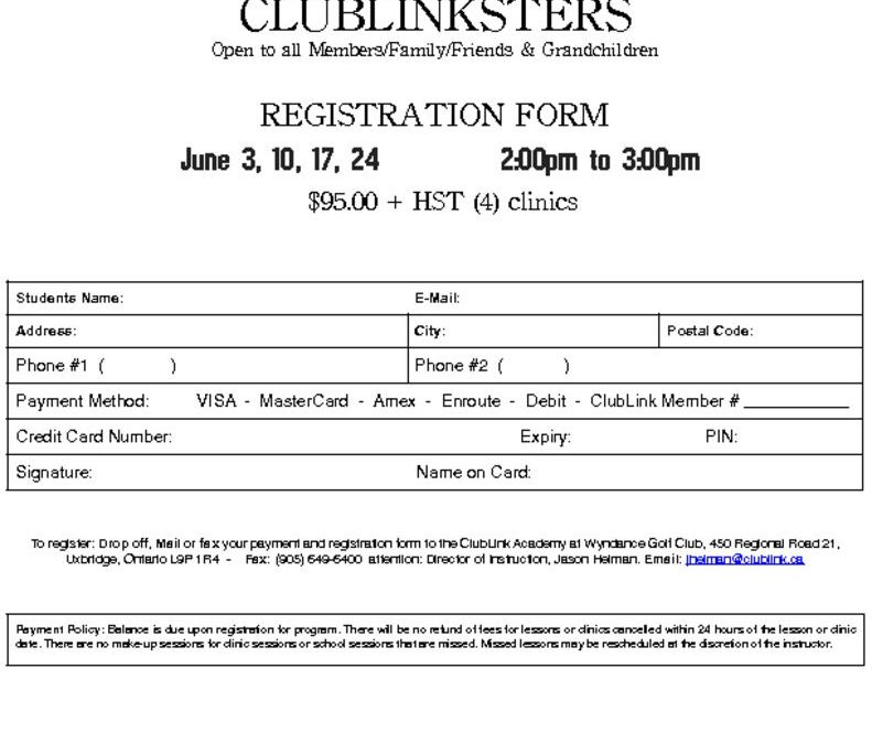 thumbnail of 2017 Wyndance ClubLinkster Registration Form