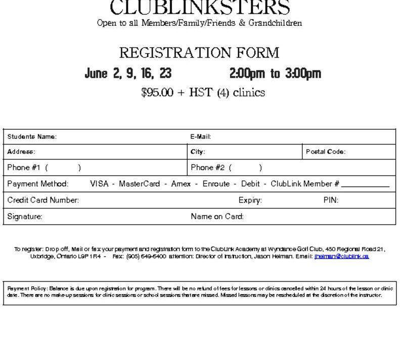 thumbnail of 2018 Wyndance ClubLinkster Registration Form