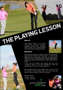 Jason Helman Golf The Playing Lesson best golf coach
