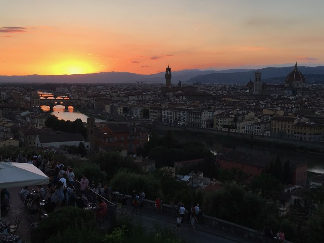 A sunset in Florence Italy