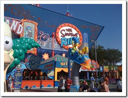 The Simpsons Ride at Universal Studios