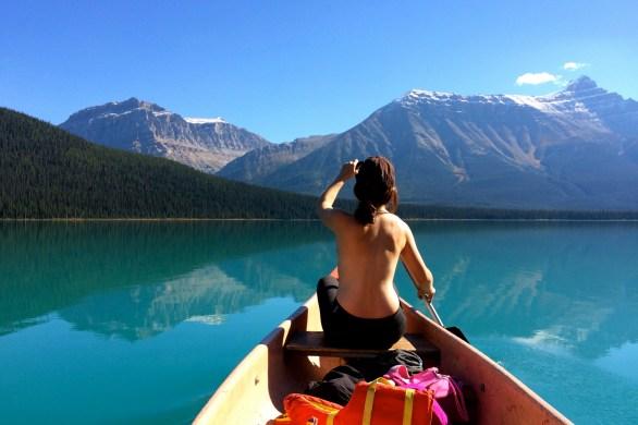 Hector Lake Canoeing