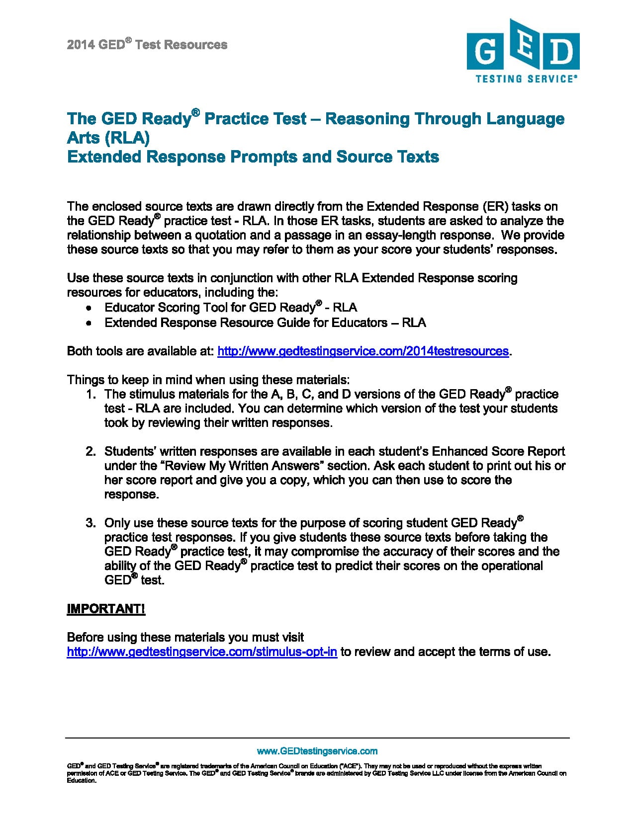 Ged Writing Essay Practice Test Simple Instruction Guide Books