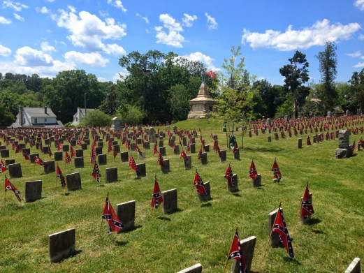 The Confederate cemetery.