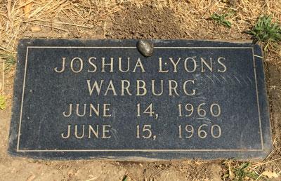 Joshua Warburg headstone