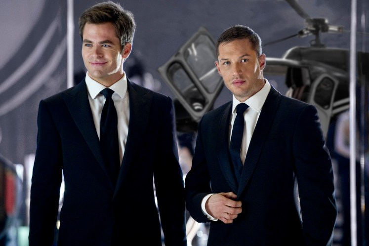 Chris Pine and Tom Hardy in This Means War (2012)