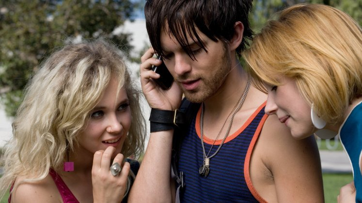 Juno Temple, Thomas Dekker and Haley Bennett in Kaboom (2010), directed by Gregg Araki.