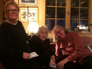 L. to R.: Betty Osborne, Mom, and Dr. Suzy Eppley at the farewell party Betty hosted.
