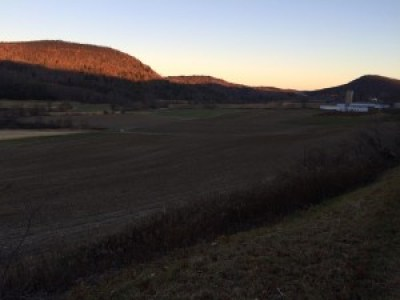 A view of the Black Creek valley at sunrise, West Hebron, N.Y.