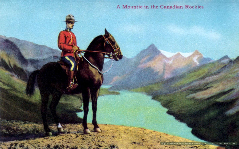Jasper National Park Photo Canadian Mountie In Jasper
