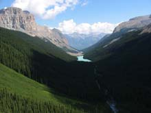 A backpacker has access to Jasper's stunning mountains.