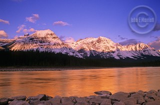The Athabasca River at sunrise.