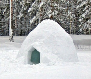 Build your own igloo in Jasper!