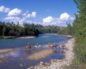 Living the cowboy life at Three Bars Guest Ranch.