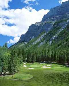 Golf at Banff Springs Golf Course, Banff National Park, Canadian Rockies