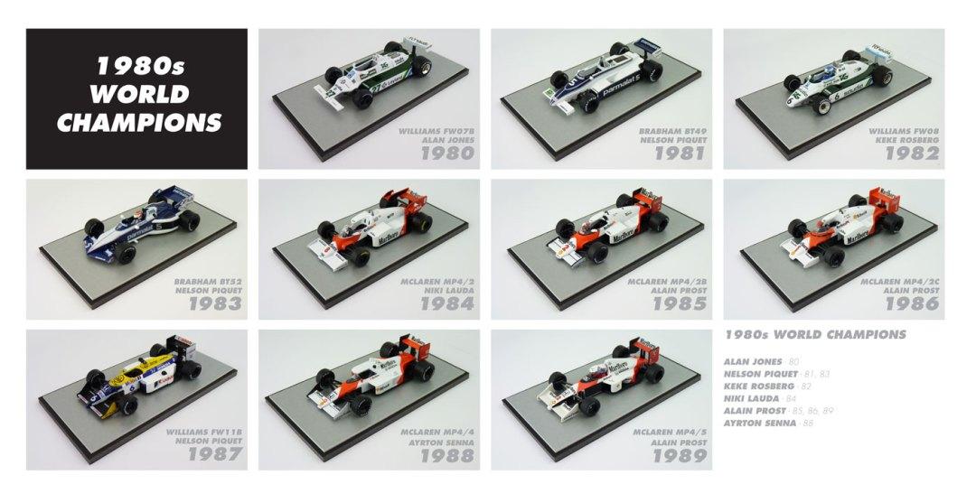 F1-World-Champions-1980s-Diecast-Models