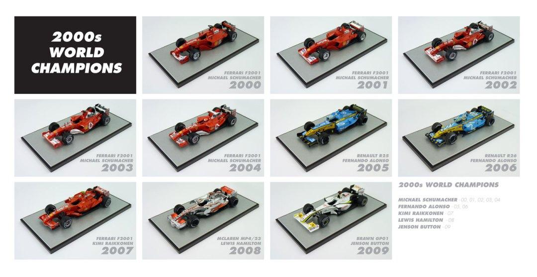 F1 World Champions 2000s Diecast Models