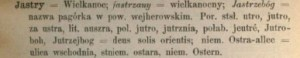 jastre