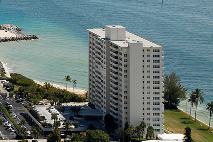 Sky Harbor East on the Beach in Fort Lauderdale with unobstructed view to the south