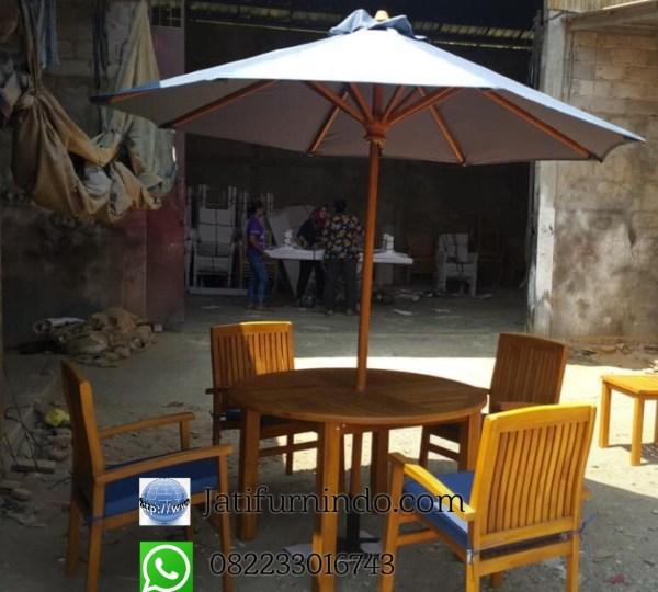 Set Kursi Cafe Meja Payung Minimalis