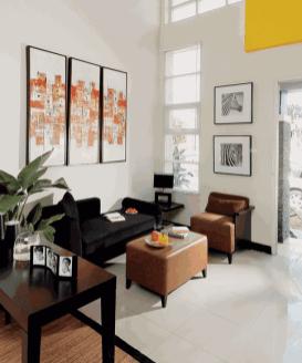 desain ruang tamu minimalis modern 4