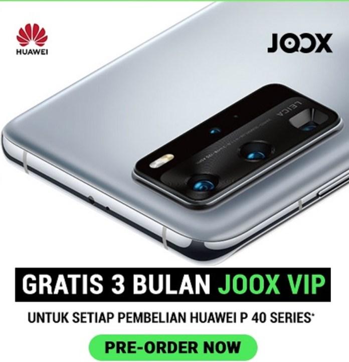 JOOX Berikan 1000 voucher 3 bulan VIP untuk pengguna Huawei Seri P40
