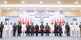 Peringati HUT Bhayangkara ke 74, Gubernur Khofifah : Polri Makin Profesional, Modern dan Terpercaya