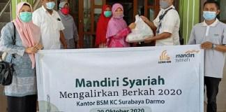 Mandiri Syariah Area Surabaya Kota Gelar Program Mengalirkan Berkah untuk Umat