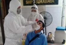 Pemkot Surabaya Gelar Tes Swab bagi Pelajar SMP, Jelang Sekolah Tatap Muka