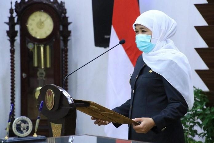 Gubernur Khofifah Optimis Vaksinasi di Jatim Selesai Setahun