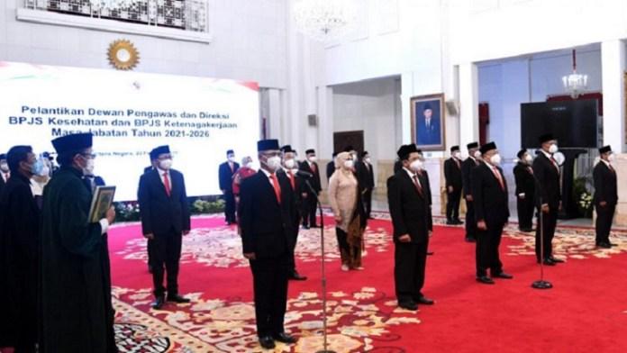 Presiden Jokowi Lantik Dewan Pengawas dan Direksi BPJS Kesehatan Maupun BPJS Ketenagakerjaan 2021–2026