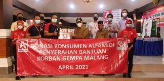 Alfamidi Bantu Korban Gempa di Malang Lewat Donasi Konsumen