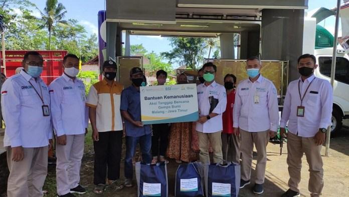 Bank Syariah Indonesia Gandeng Yayasan Hasanah Titik dan Laznas BSMU Salurkan Bantuan Untuk Gempa Malang