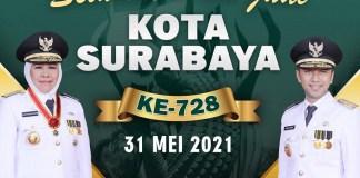 HUT Kota Surabaya Ke 728, Gubernur Khofifah : Terus Jadi Kebanggaan Jawa Timur dan Indonesia