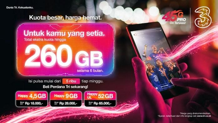 3 Indonesia Luncurkan Perdana Happy dan Ekstra Kuota hingga 260 GB untuk Masyarakatdi Surabaya