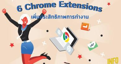 6 Chrome Extensions เพิ่มประสิทธิภาพการทำงาน