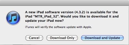 iOS 4.3.2 iPad GSM Update