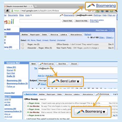 Boomerang on Gmail Scheduler