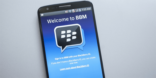 bbm android and ping apps