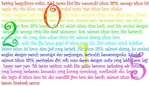 New Year, Tahun baru, Tahun 2015