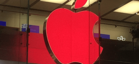 Logo Apple jadi Merah di Apple Store Sydney