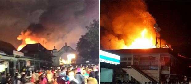 Pasar klewer terbakar, Kota Solo