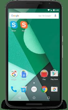 Aplikasi App Cloner di Android jalankan Skype