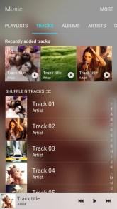 Samsung Music di Samsung Galaxy S7 Tracklist