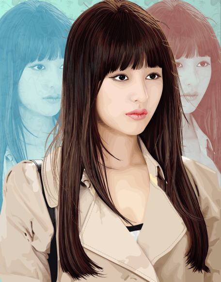 Vektor Art Kim Ji-won