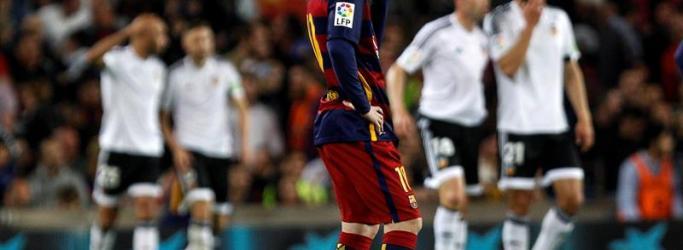 Lionel Messi tidak percaya Kalah dari Valencia di Pekan 33 La Liga