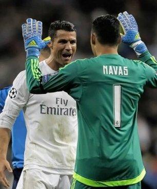 Navas dan Cristiano Ronaldo